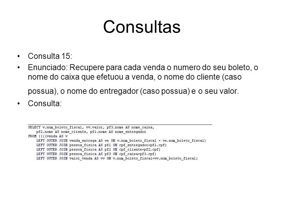 Consultas Consulta 15: