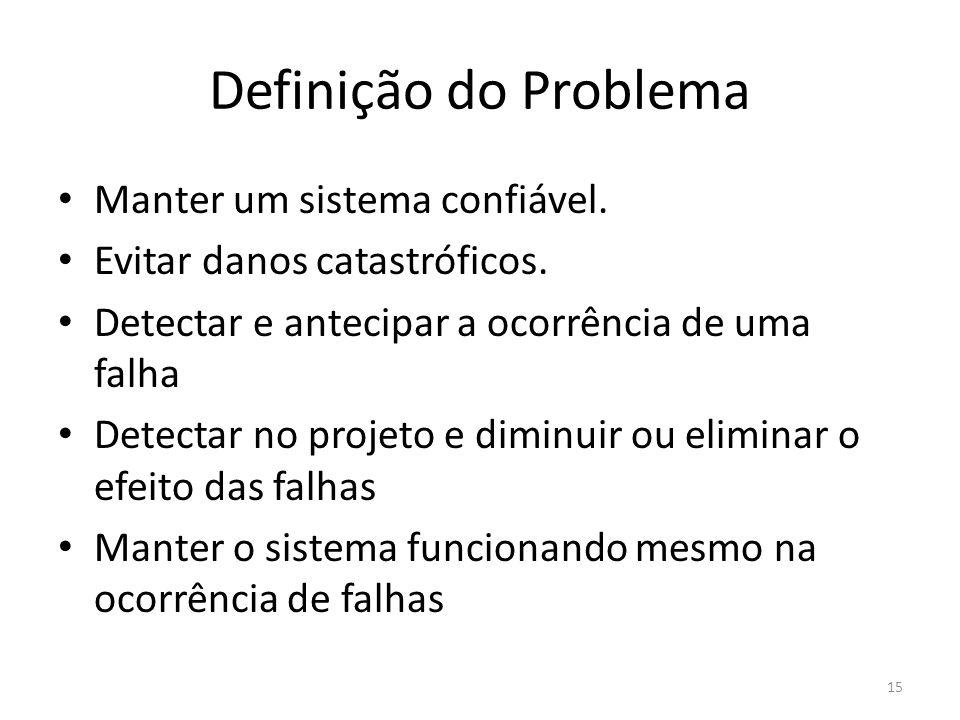 Definição do Problema Manter um sistema confiável.
