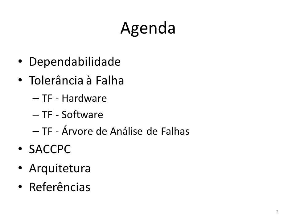 Agenda Dependabilidade Tolerância à Falha SACCPC Arquitetura