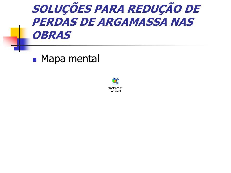 SOLUÇÕES PARA REDUÇÃO DE PERDAS DE ARGAMASSA NAS OBRAS