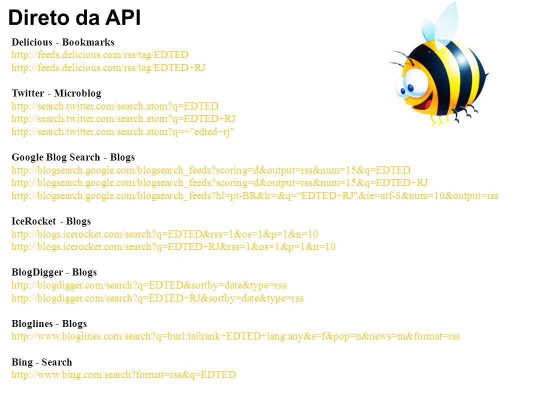 Direto da API Delicious - Bookmarks