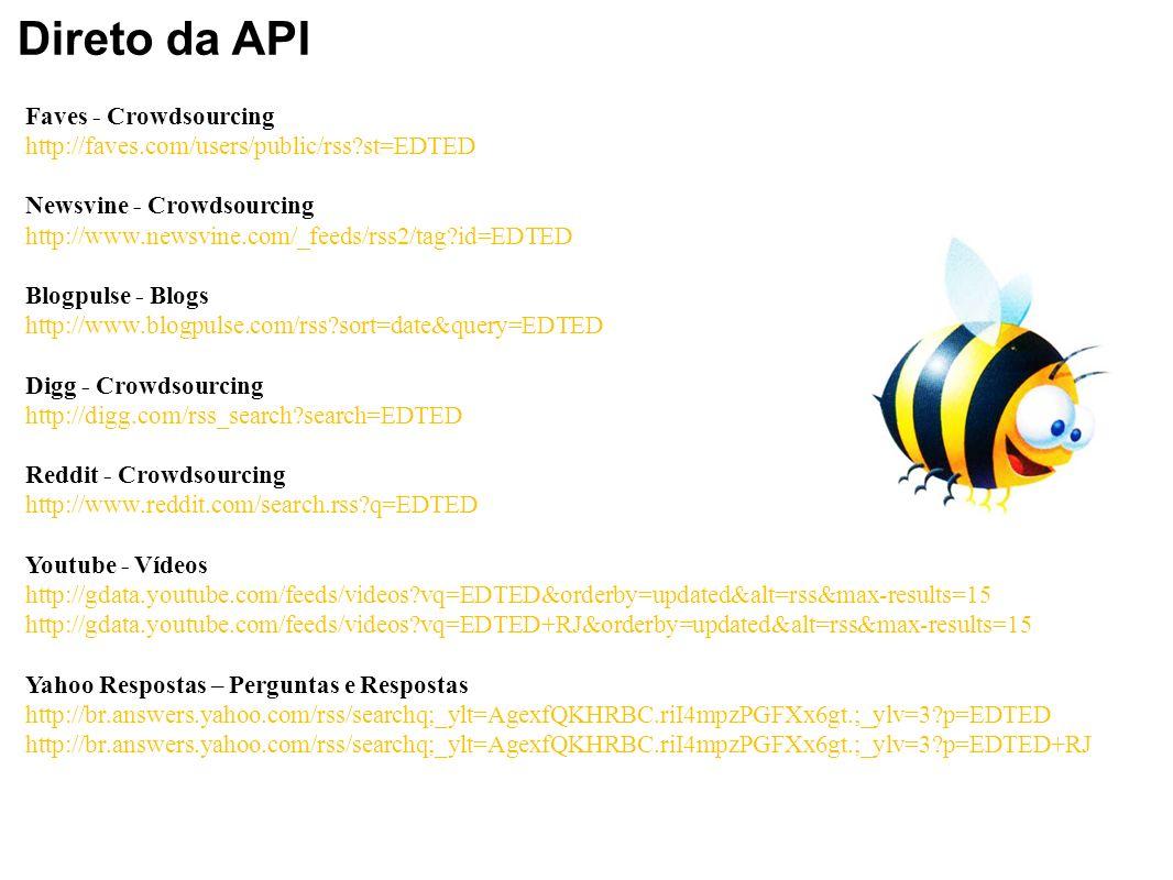 Direto da API Faves - Crowdsourcing
