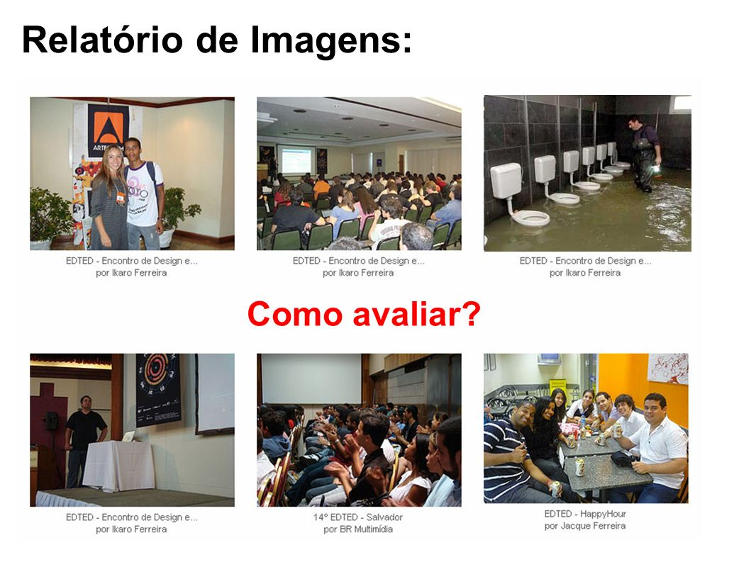 Relatório de Imagens: Como avaliar