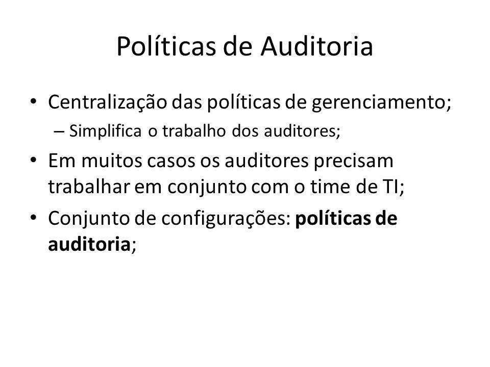 Políticas de Auditoria