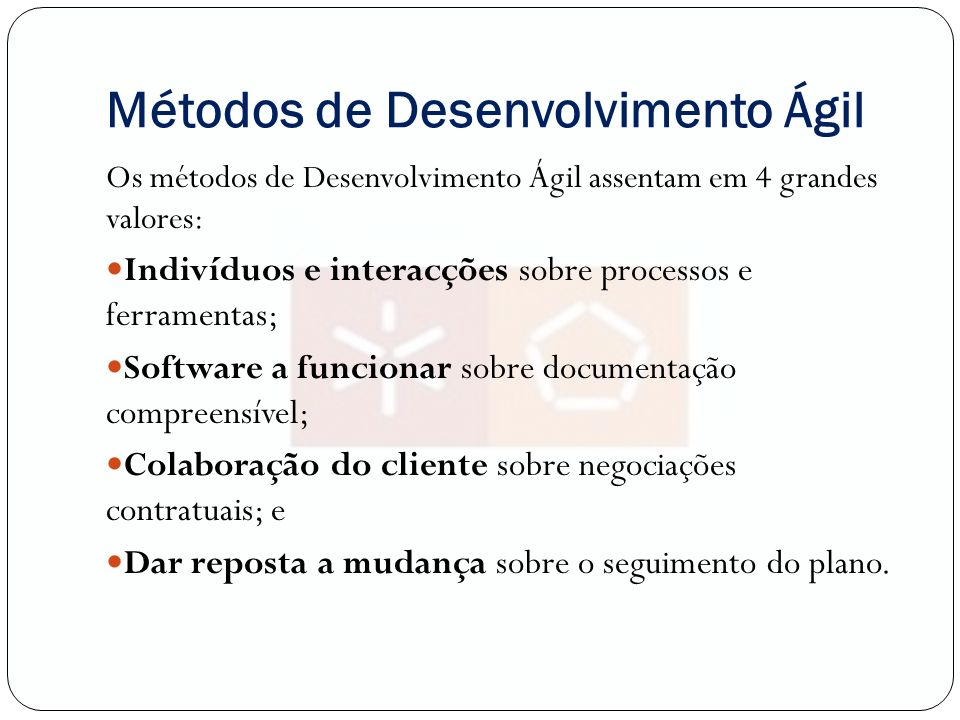 Métodos de Desenvolvimento Ágil