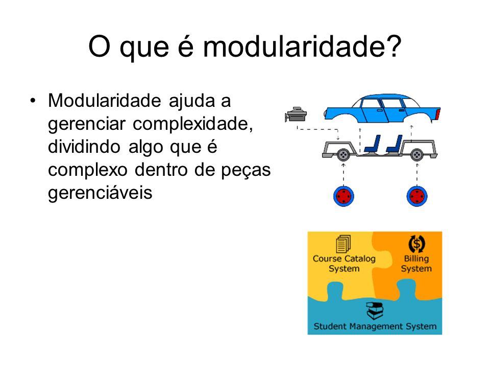O que é modularidade.