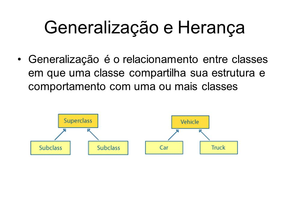 Generalização e Herança