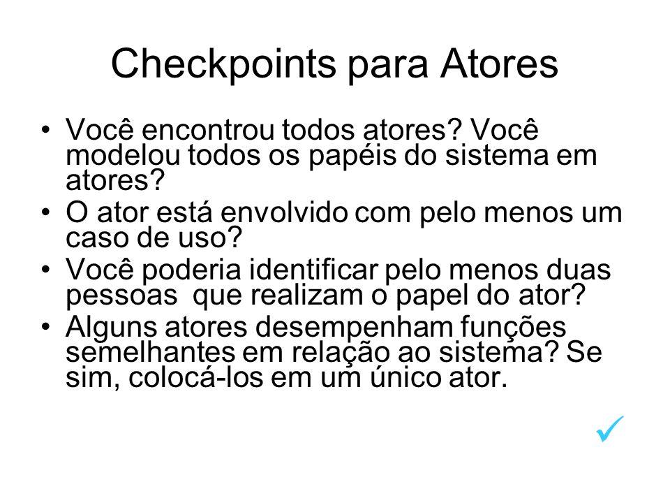 Checkpoints para Atores
