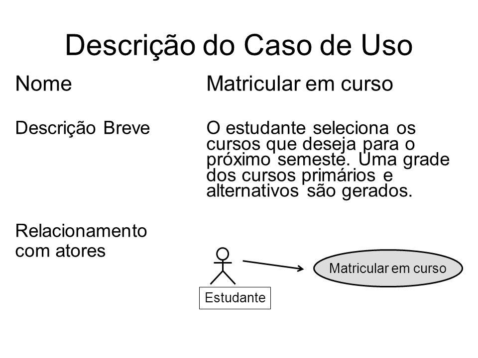 Descrição do Caso de Uso