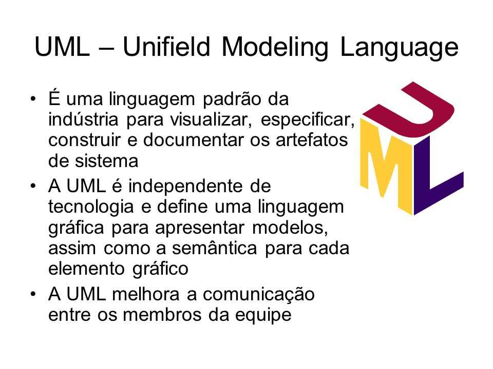 UML – Unifield Modeling Language