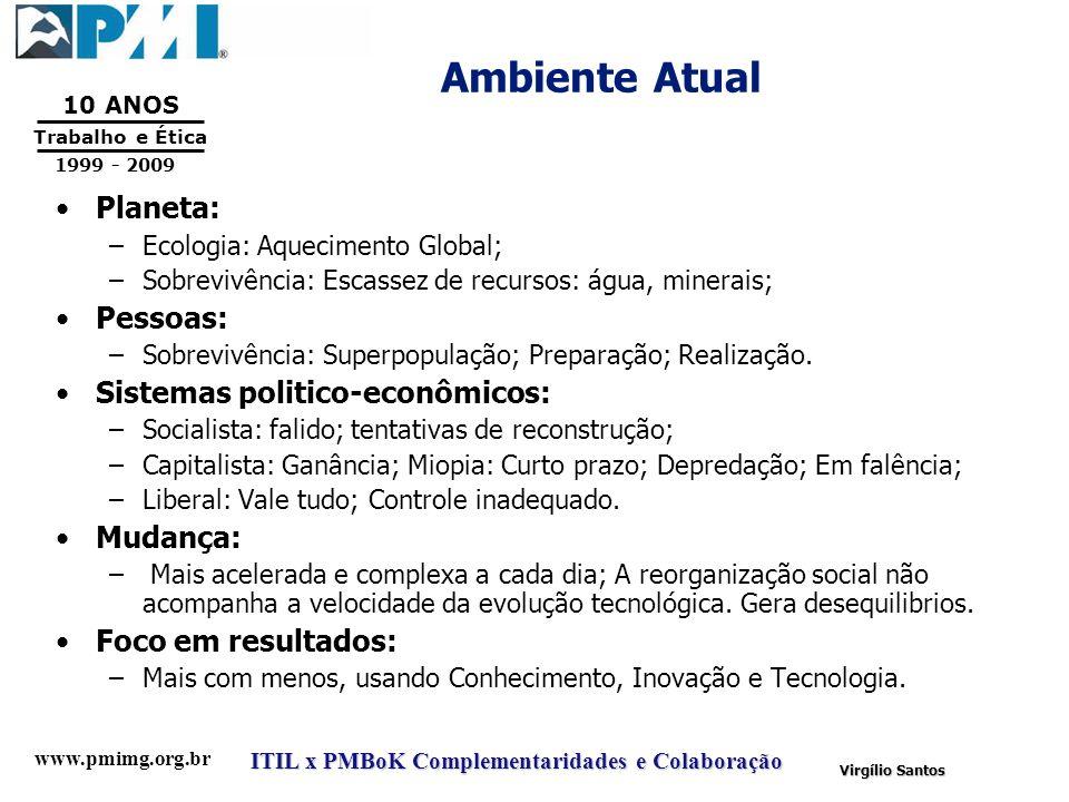 Ambiente Atual Planeta: Pessoas: Sistemas politico-econômicos: