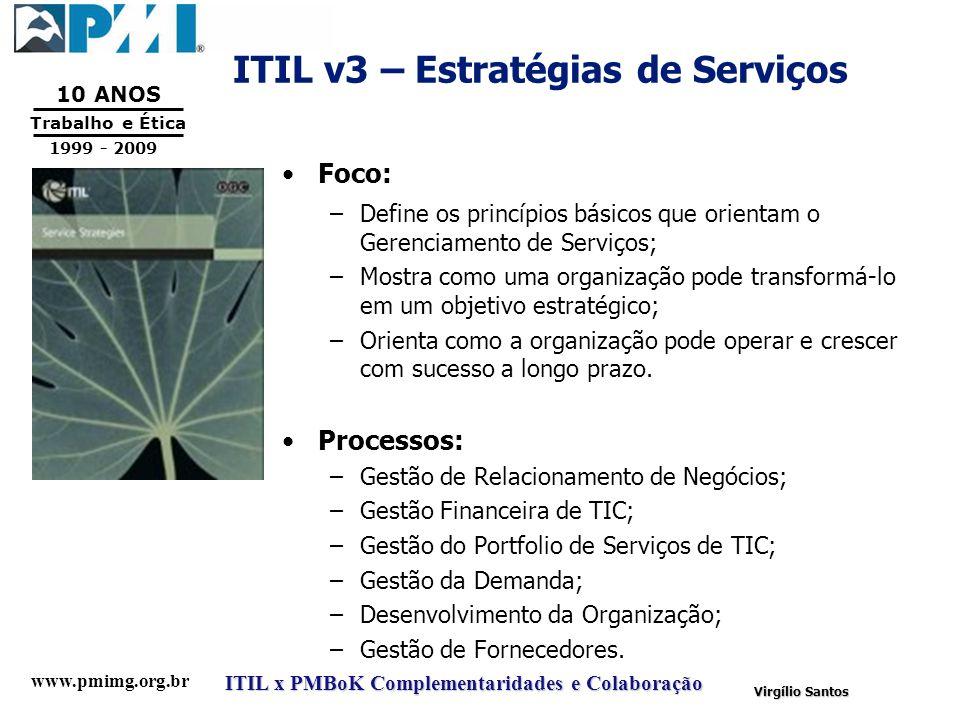 ITIL v3 – Estratégias de Serviços