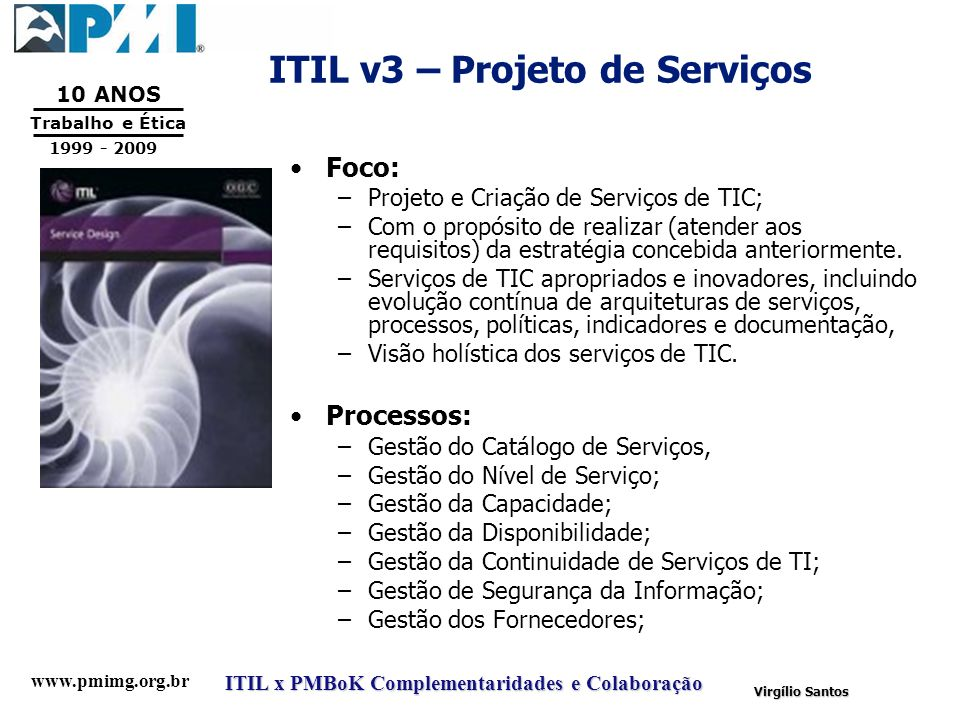 ITIL v3 – Projeto de Serviços