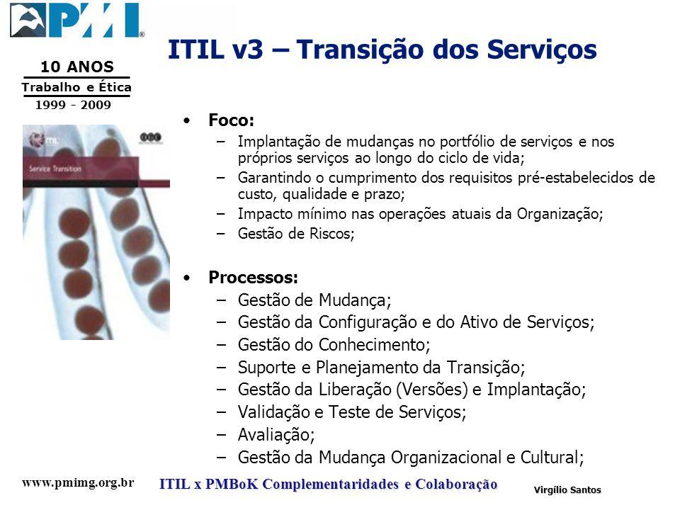 ITIL v3 – Transição dos Serviços