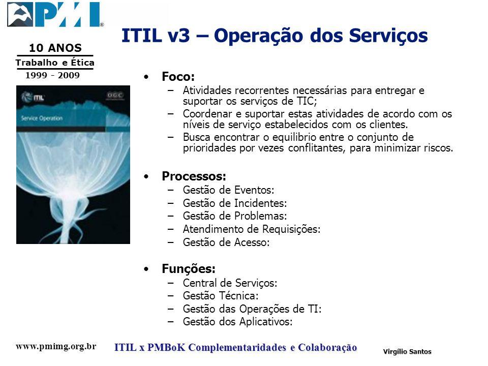 ITIL v3 – Operação dos Serviços