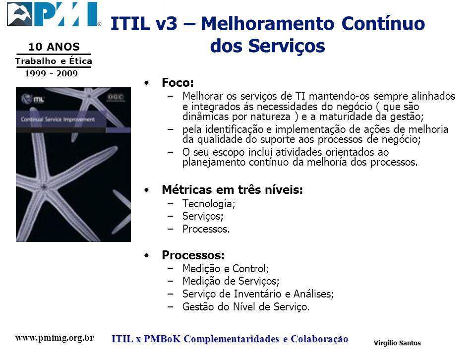 ITIL v3 – Melhoramento Contínuo dos Serviços
