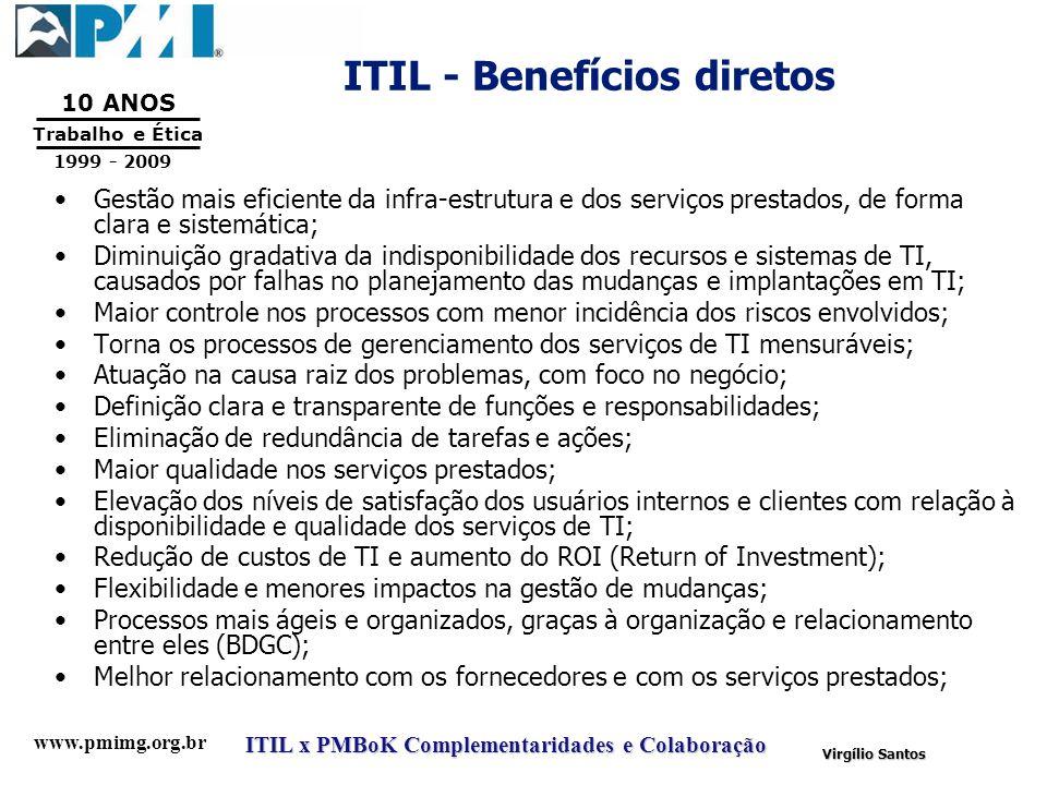 ITIL - Benefícios diretos