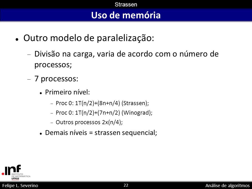 Outro modelo de paralelização: