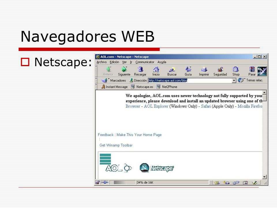 Navegadores WEB Netscape: