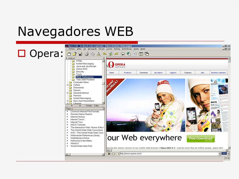 Navegadores WEB Opera: