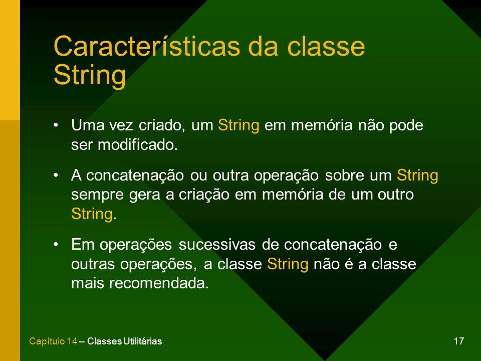 Características da classe String