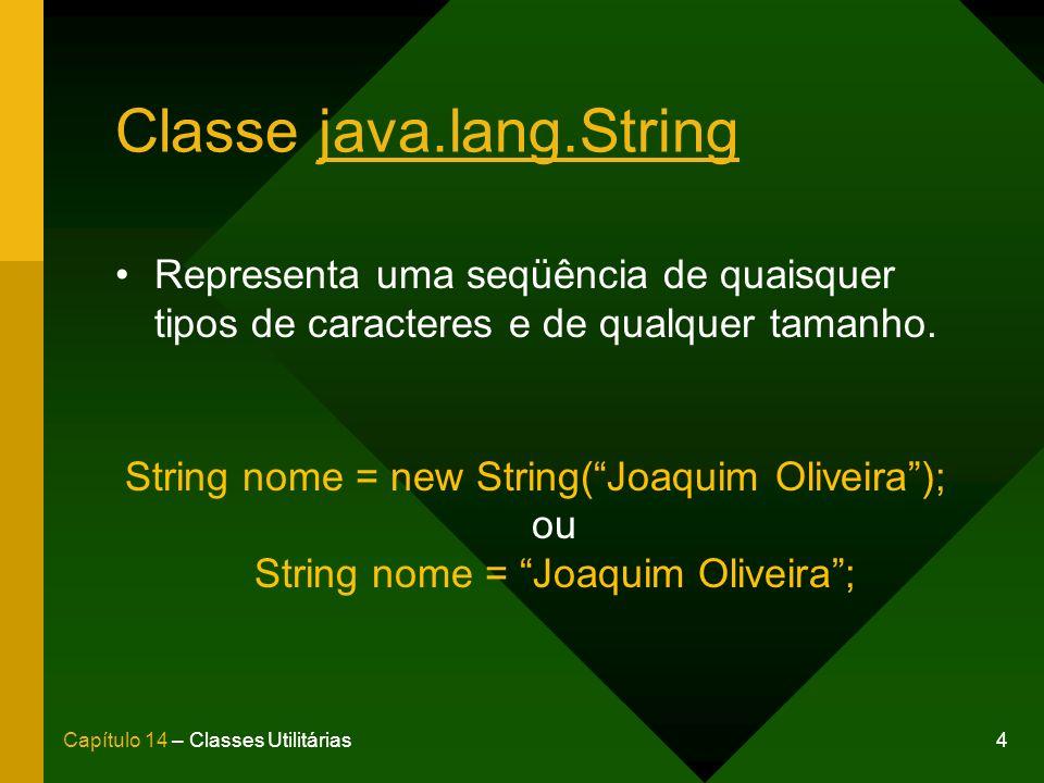 Classe java.lang.String