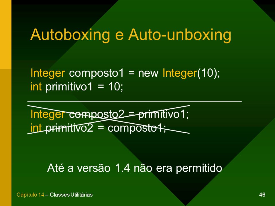 Autoboxing e Auto-unboxing
