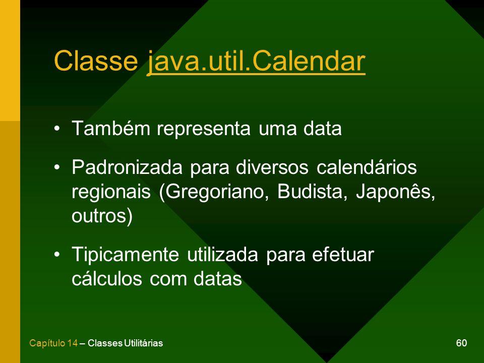 Classe java.util.Calendar