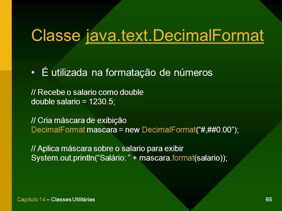 Classe java.text.DecimalFormat