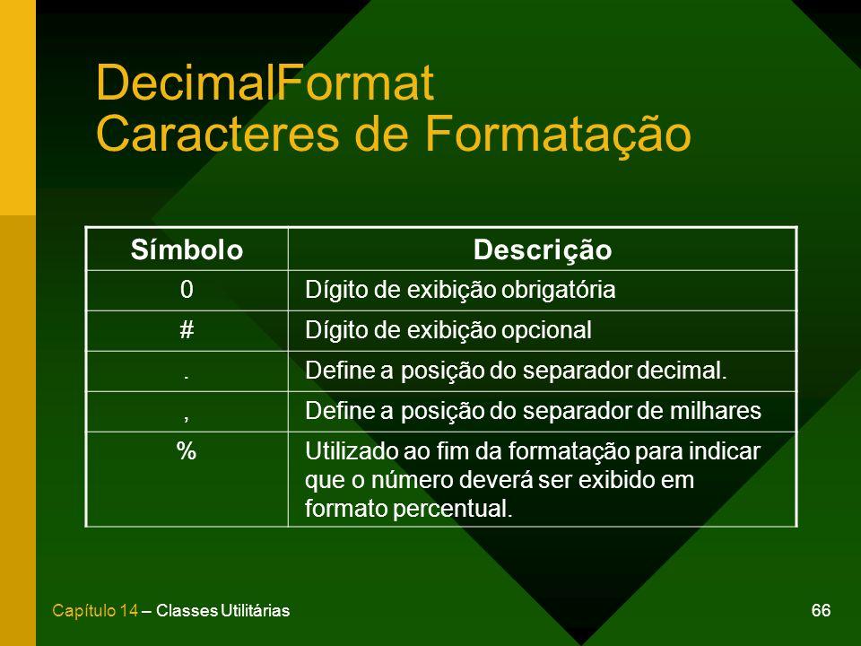 DecimalFormat Caracteres de Formatação