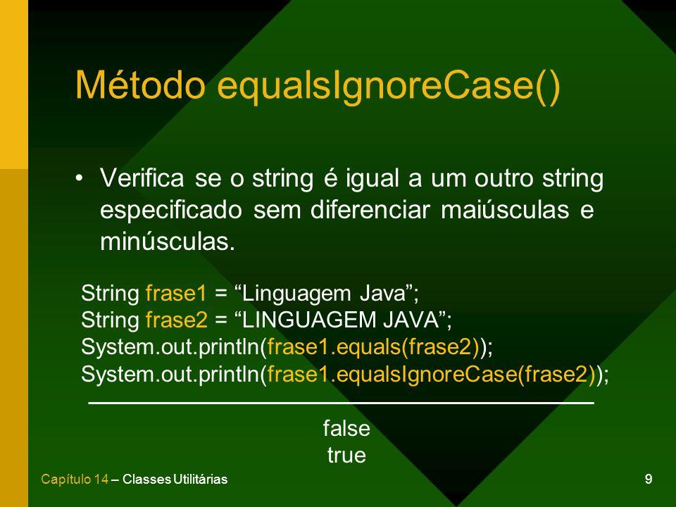Método equalsIgnoreCase()