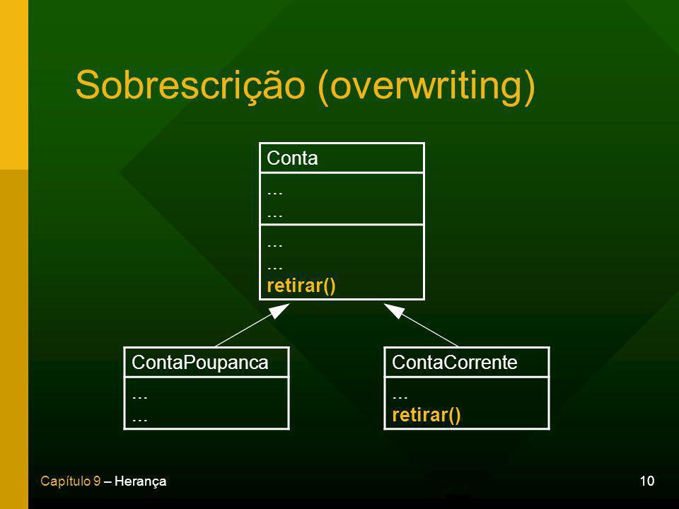 Sobrescrição (overwriting)