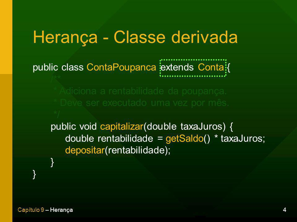 Herança - Classe derivada