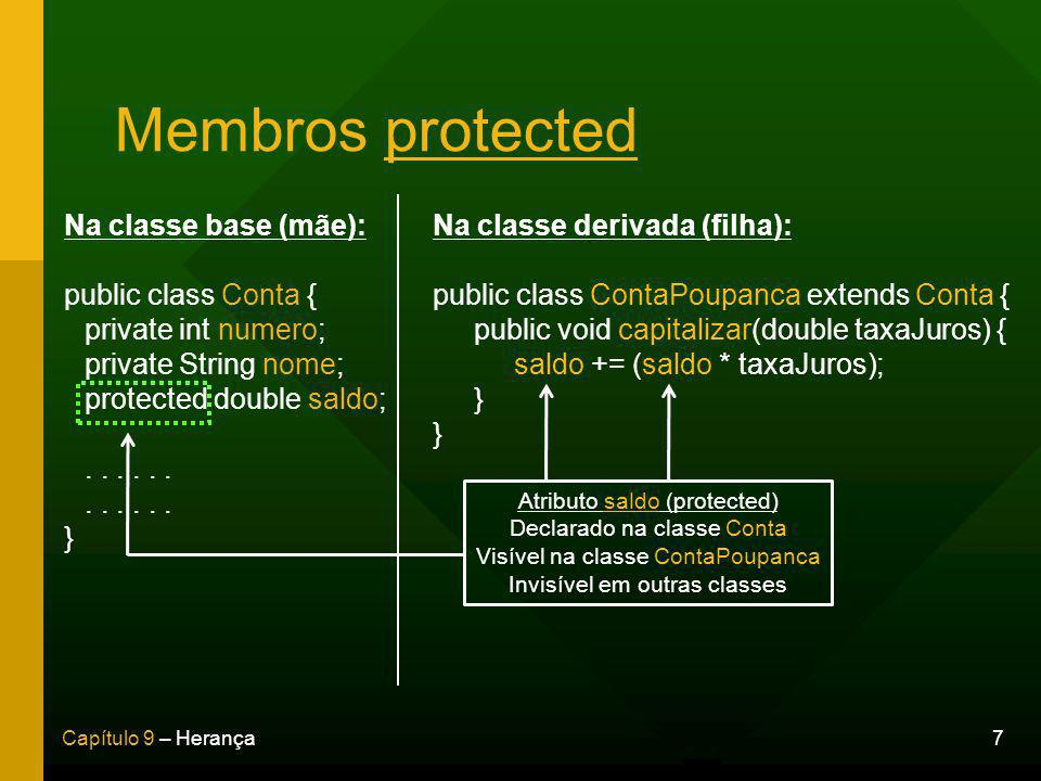 Membros protected