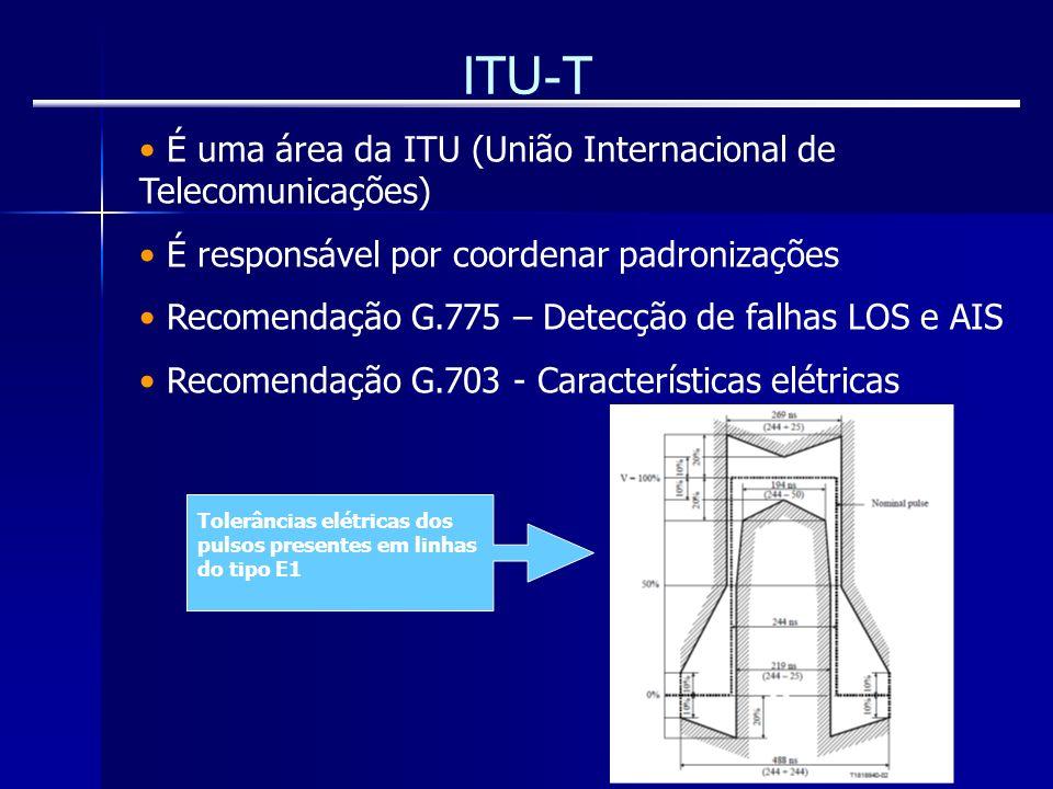 ITU-T É uma área da ITU (União Internacional de Telecomunicações)