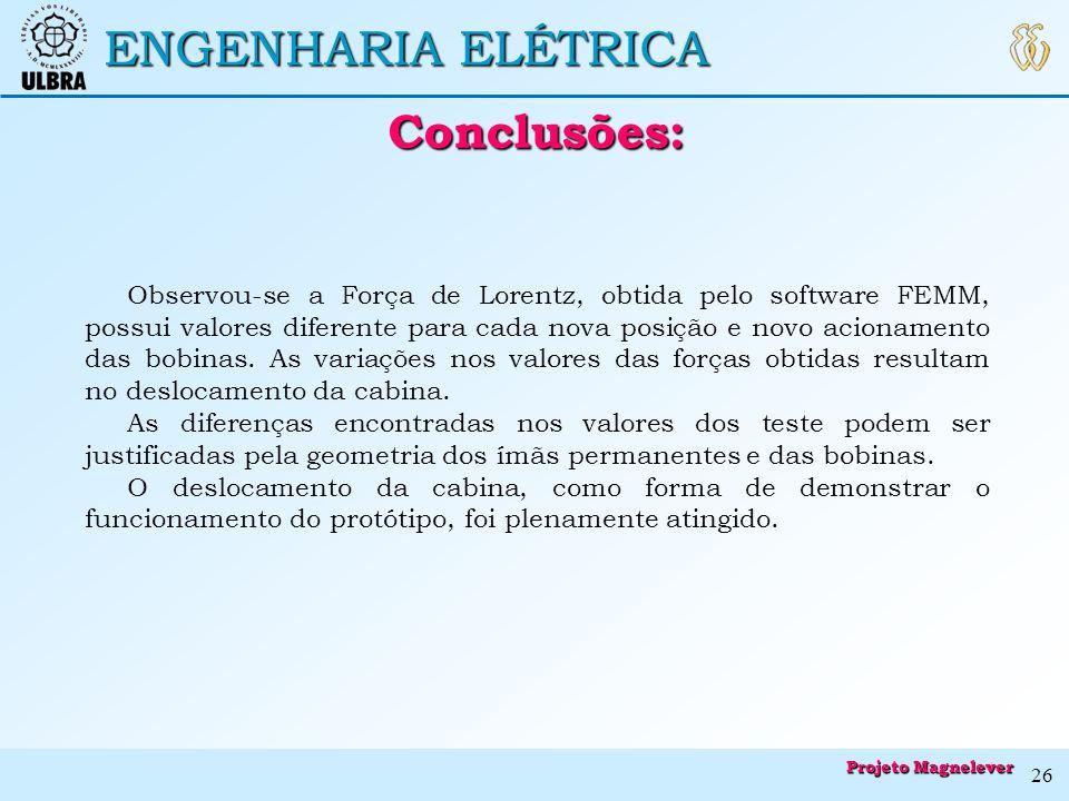 Conclusões: ENGENHARIA ELÉTRICA