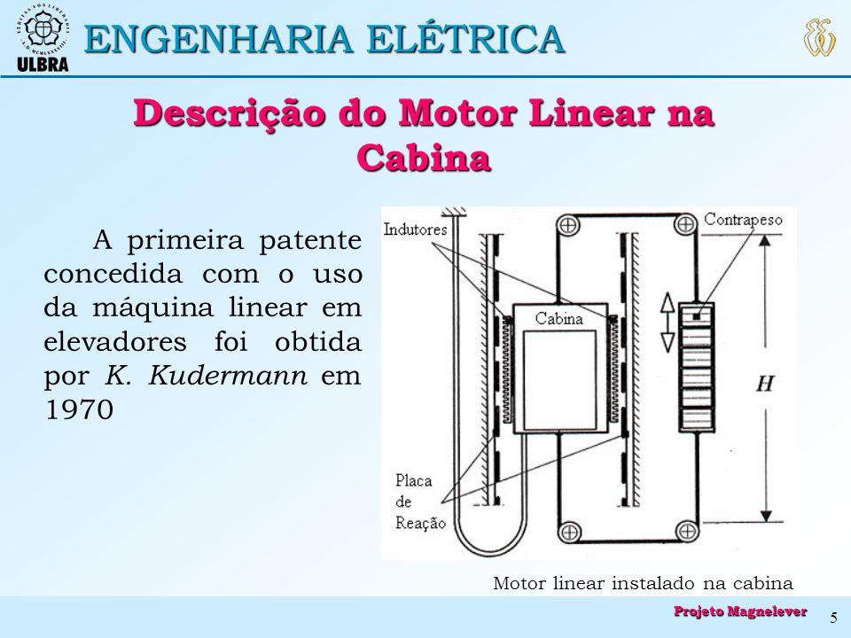 Descrição do Motor Linear na Cabina