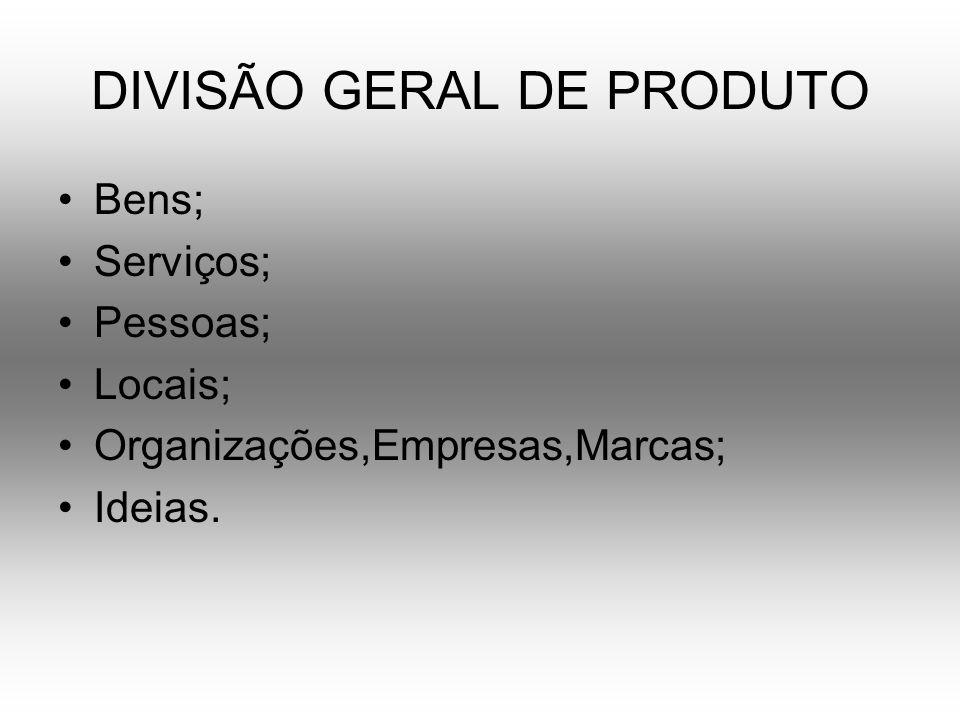 DIVISÃO GERAL DE PRODUTO