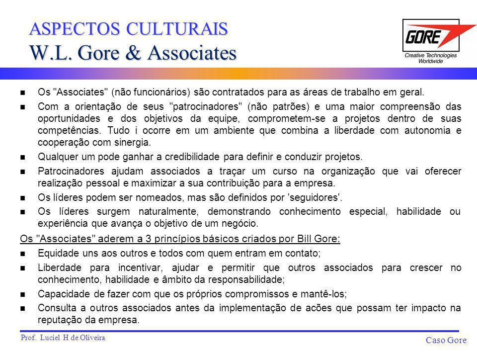 ASPECTOS CULTURAIS W.L. Gore & Associates