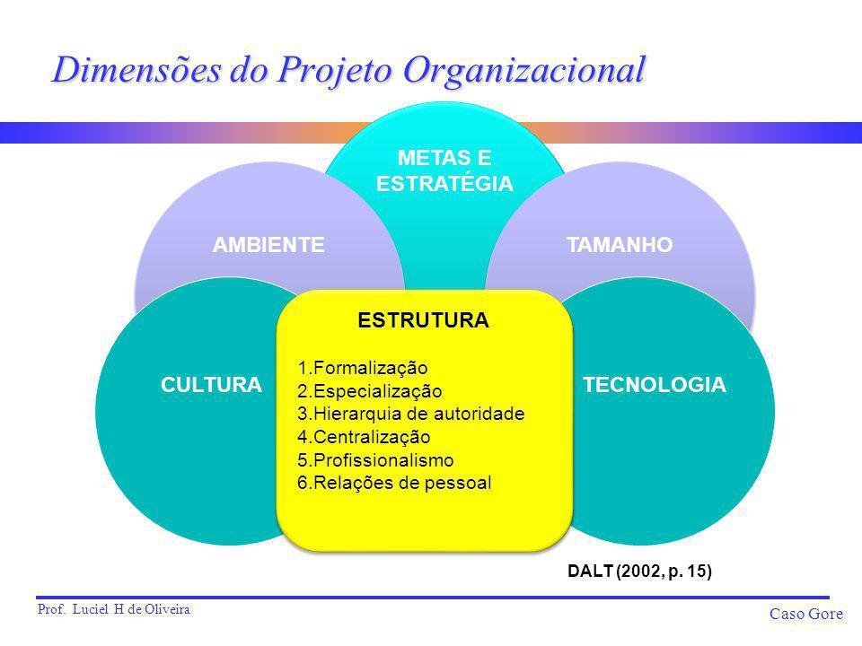 Dimensões do Projeto Organizacional