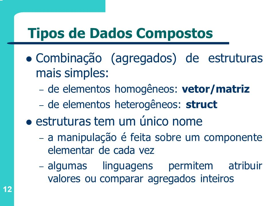 Tipos de Dados Compostos