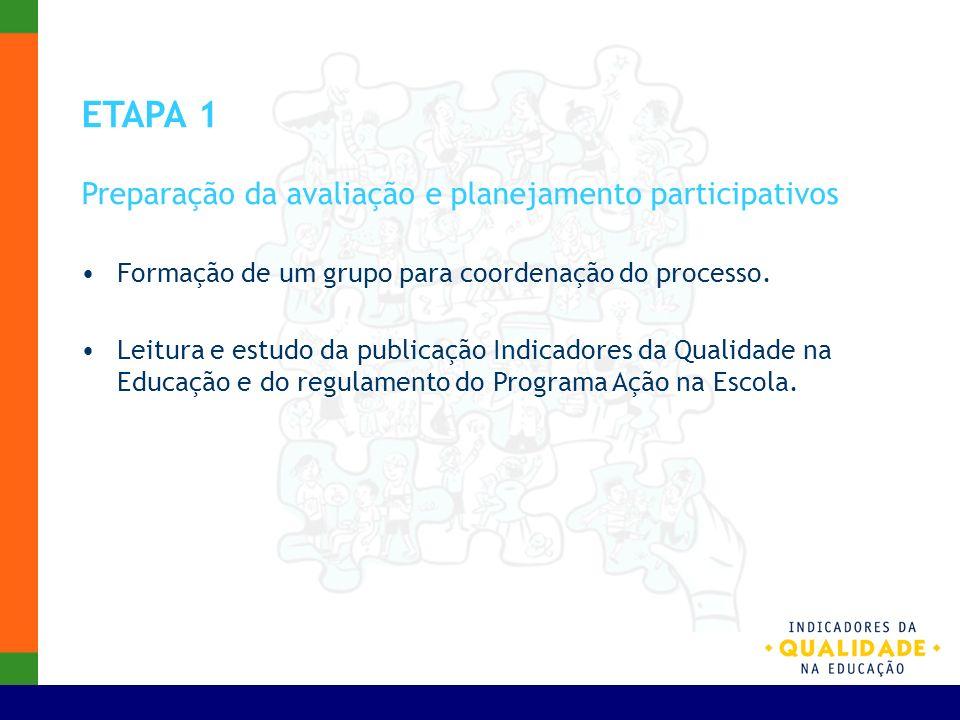 ETAPA 1 Preparação da avaliação e planejamento participativos
