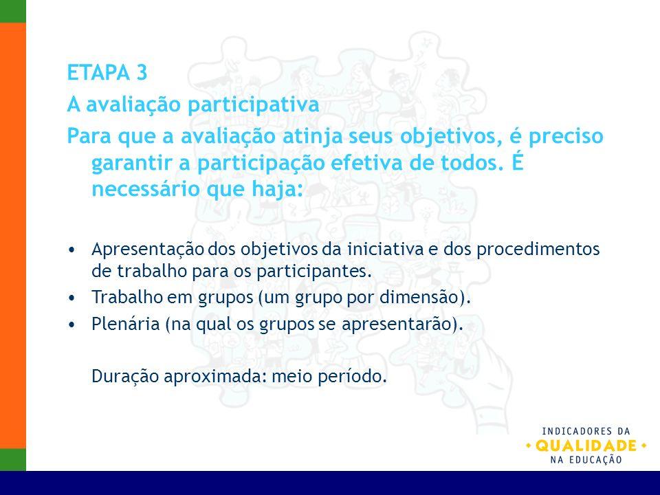 A avaliação participativa