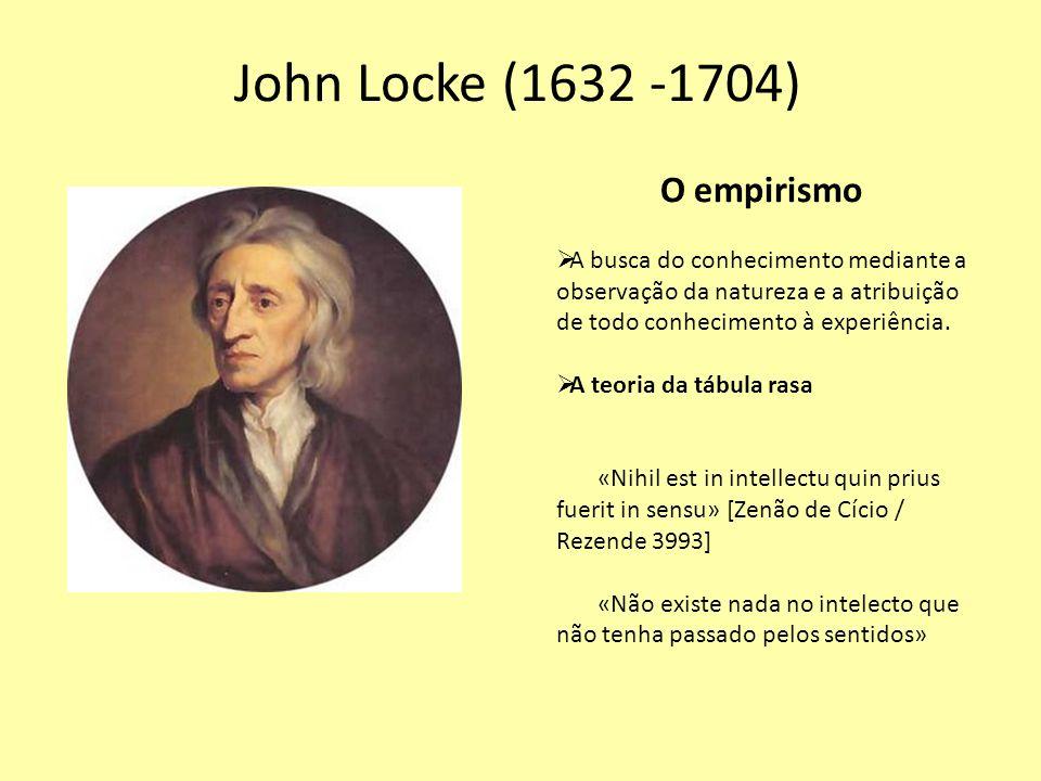 John Locke (1632 -1704) O empirismo