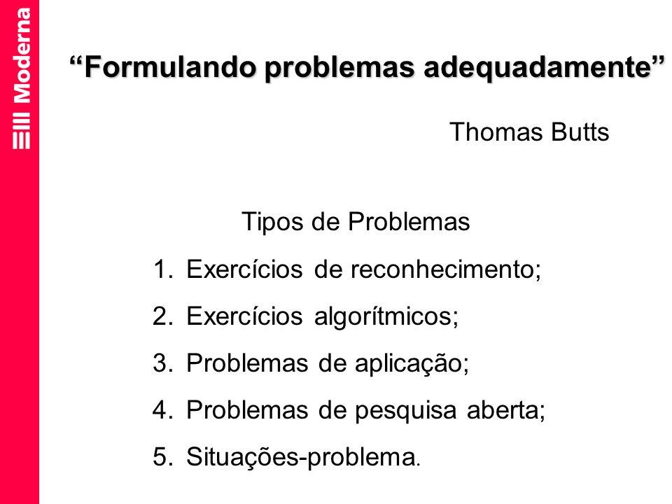 Formulando problemas adequadamente