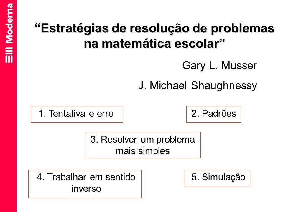 Estratégias de resolução de problemas na matemática escolar