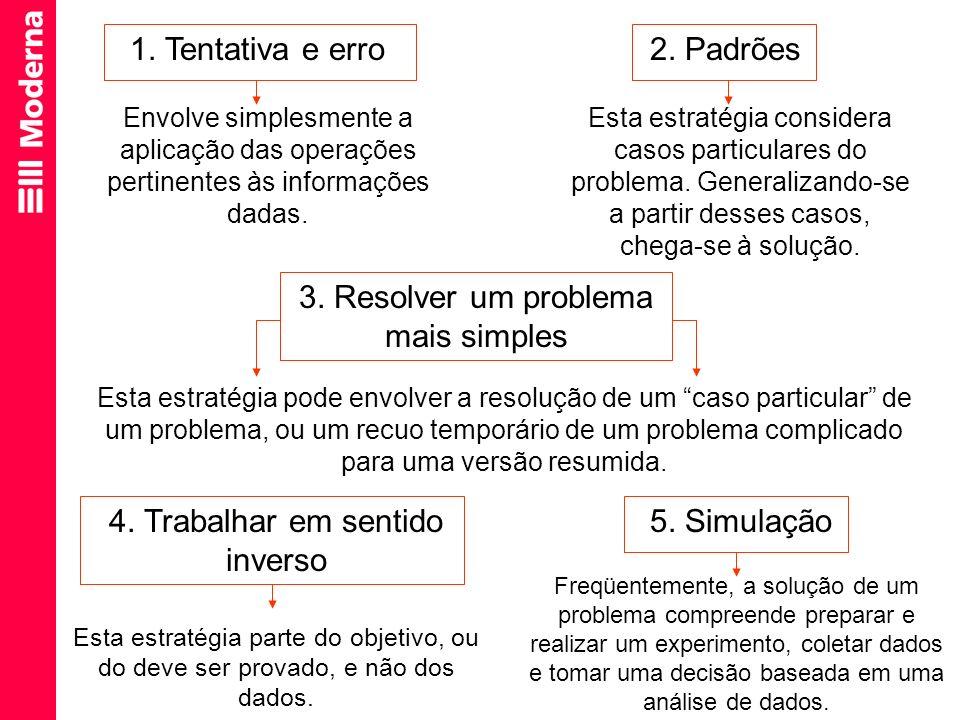 3. Resolver um problema mais simples