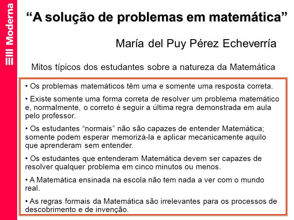 A solução de problemas em matemática