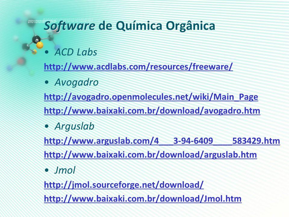 Software de Química Orgânica
