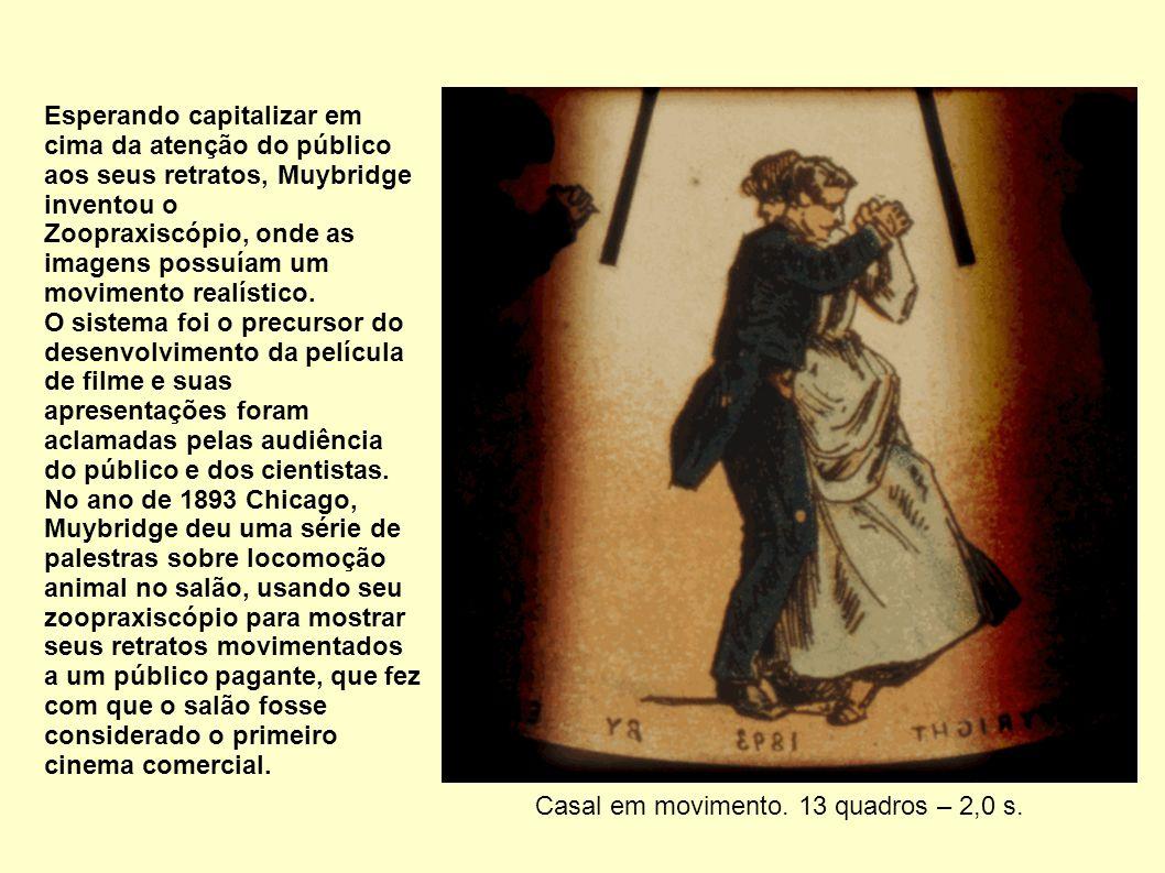Esperando capitalizar em cima da atenção do público aos seus retratos, Muybridge inventou o